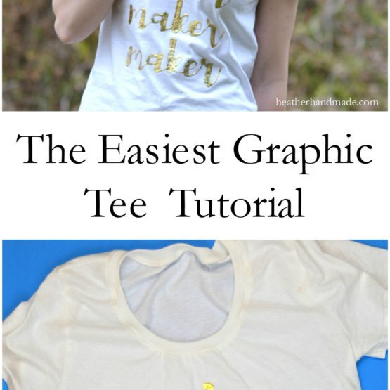 The Easiest Graphic Tee Tutorial // heatherhandmade.com