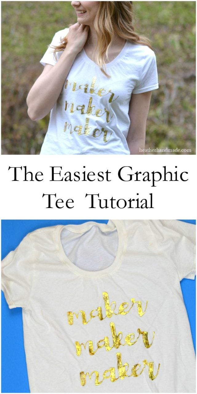 The Easiest Graphic Tee Tutorial