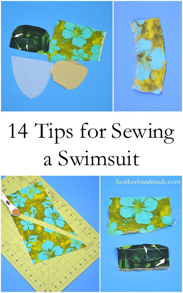 14 Tips to Sew a Swimsuit // heatherhandmade.com