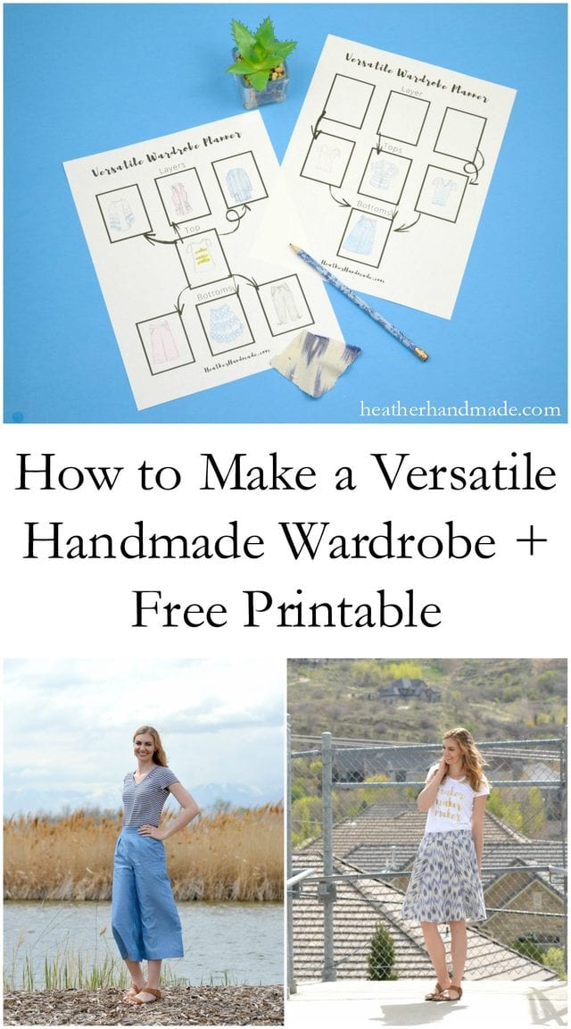 How to Make a Versatile Handmade Wardrobe + Free Printable // heatherhandmade.com