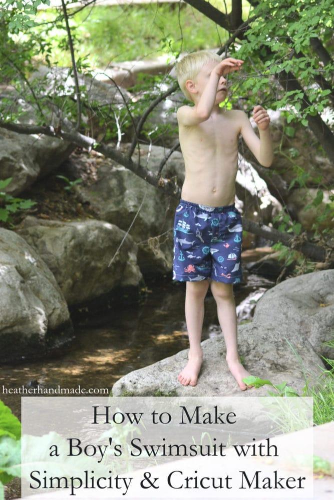 How to Make Boy's Swim Trunks with Simplicity + Cricut