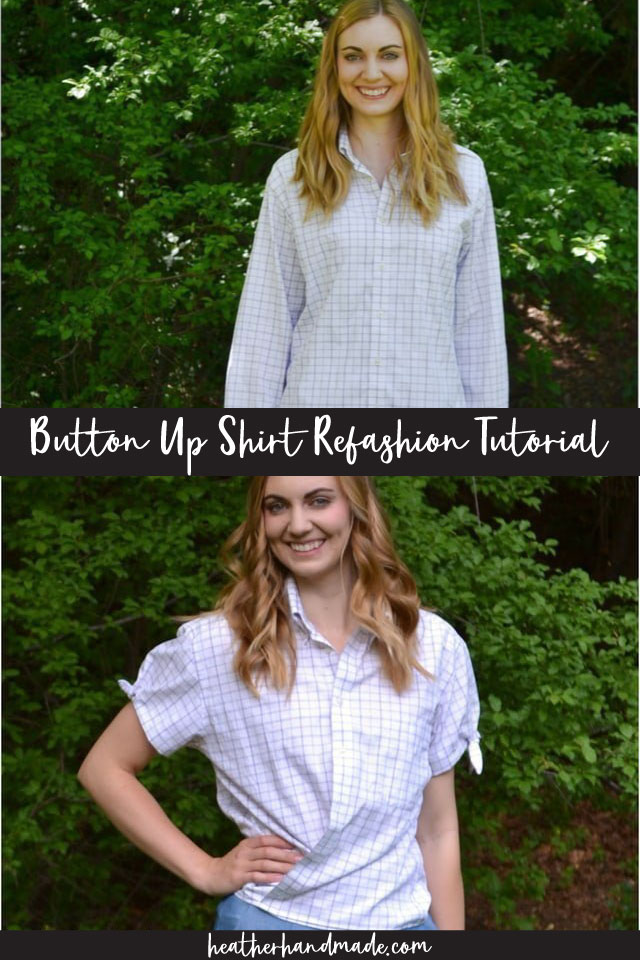 Button Up Shirt Refashion Tutorial