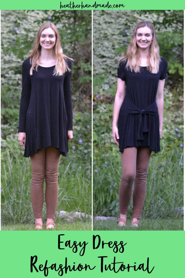 Easy Dress Refashion Tutorial