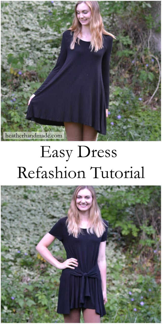 Easy Dress Refashion Tutorial // heatherhandmade.com