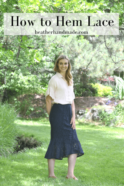 How to Hem Lace + a Lace Trumpet Skirt // heatherhandmade.com