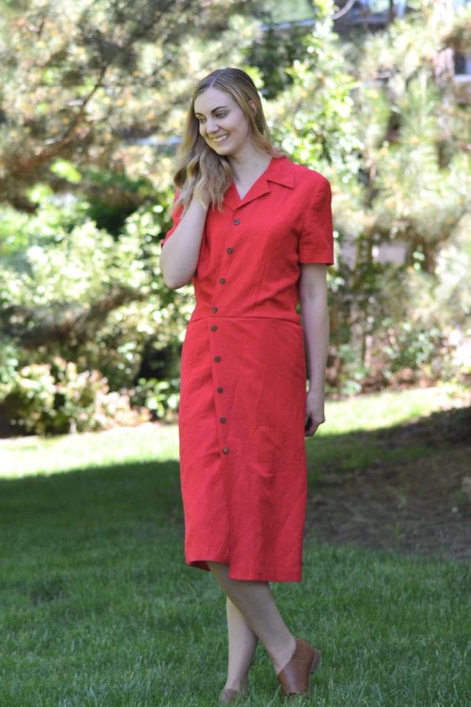Vintage Dress Refashion Tutorial // heatherhandmade.com