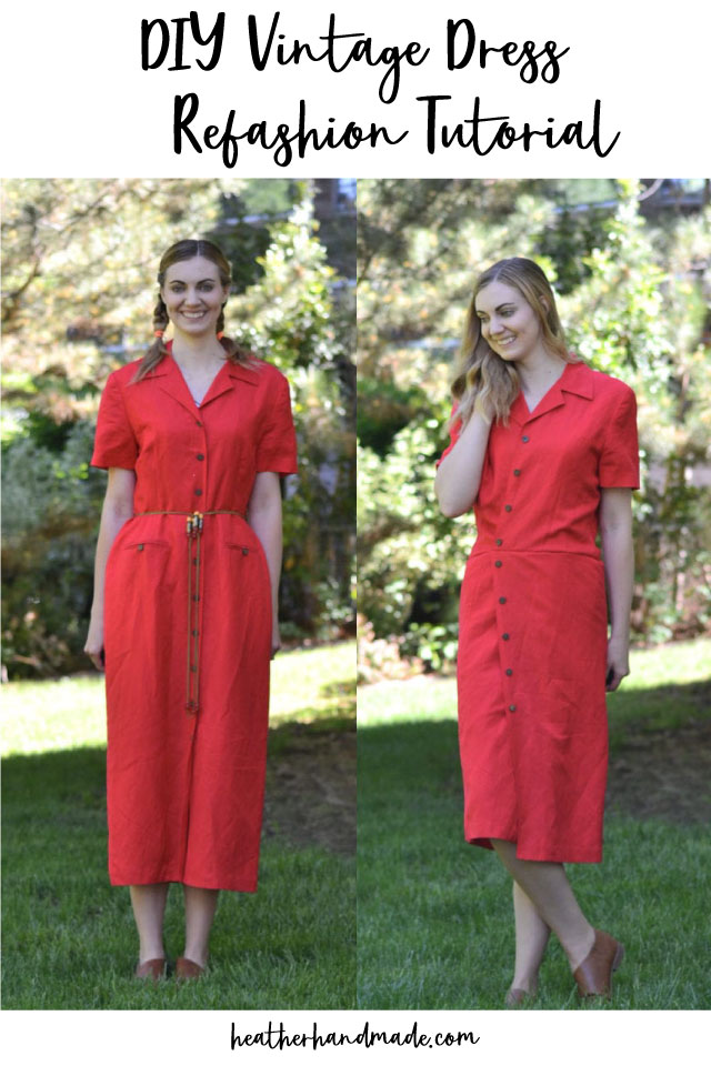 Vintage Dress Refashion Tutorial