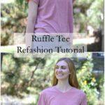 Ruffle Tee Refashion Tutorial