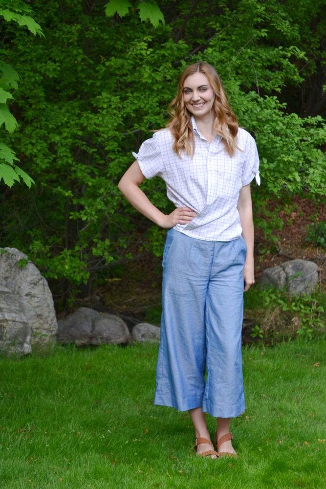 Button Up Shirt Refashion Tutorial // heatherhandmade.com
