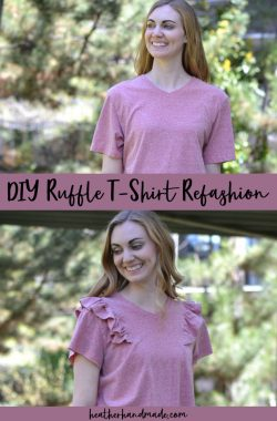 DIY Ruffle T-Shirt Refashion Tutorial