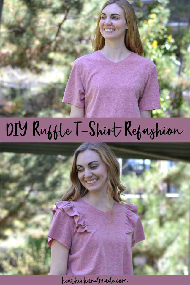 DIY Ruffle T-Shirt Refashion Tutorial