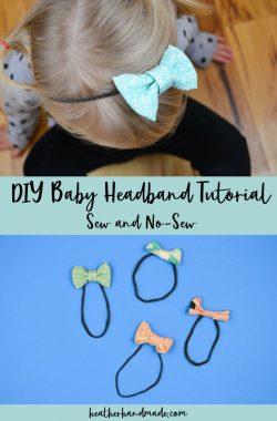 diy simple baby headband tutorial + free pattern