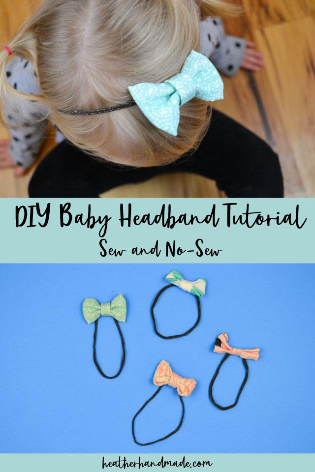 Simple Baby Headband Tutorial // Sew and No-Sew