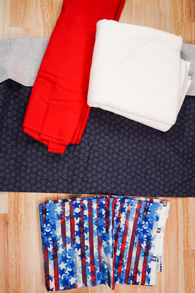 flag rag quilt supplies