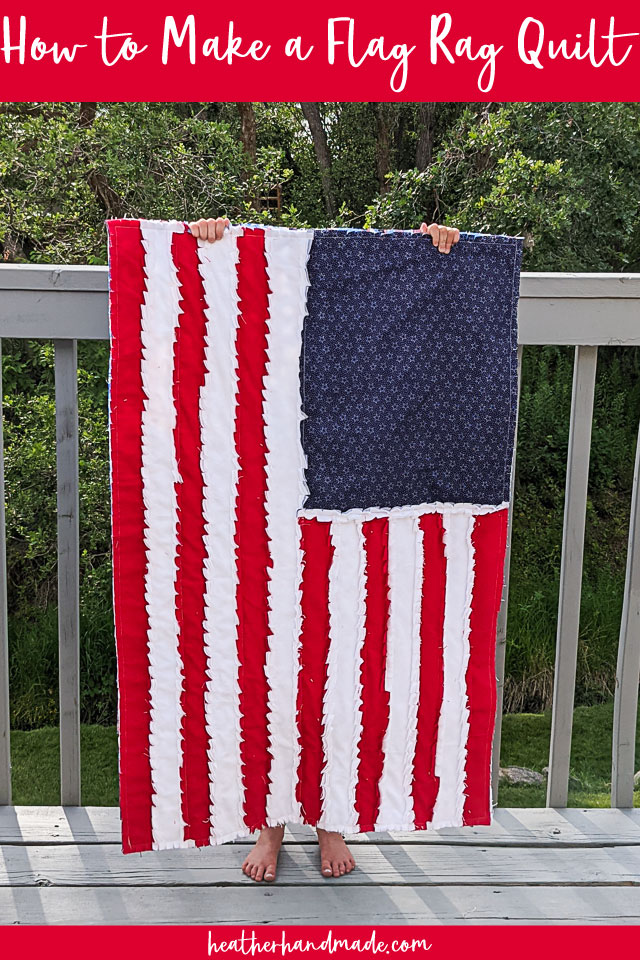 How to Make a Flag Rag Quilt