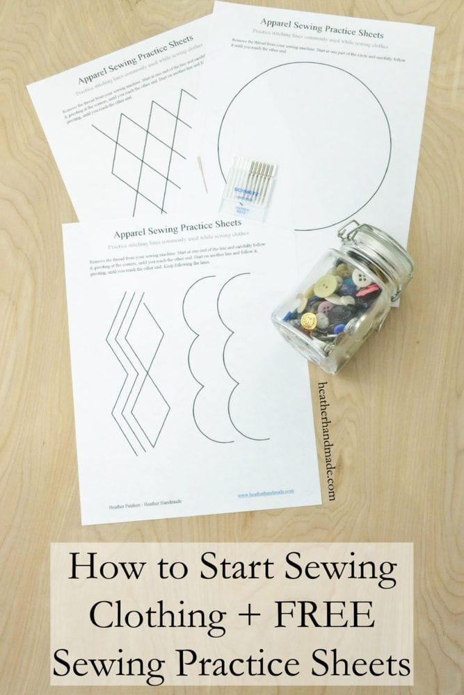 Learn How to Sew + FREE Sewing Practice Sheets