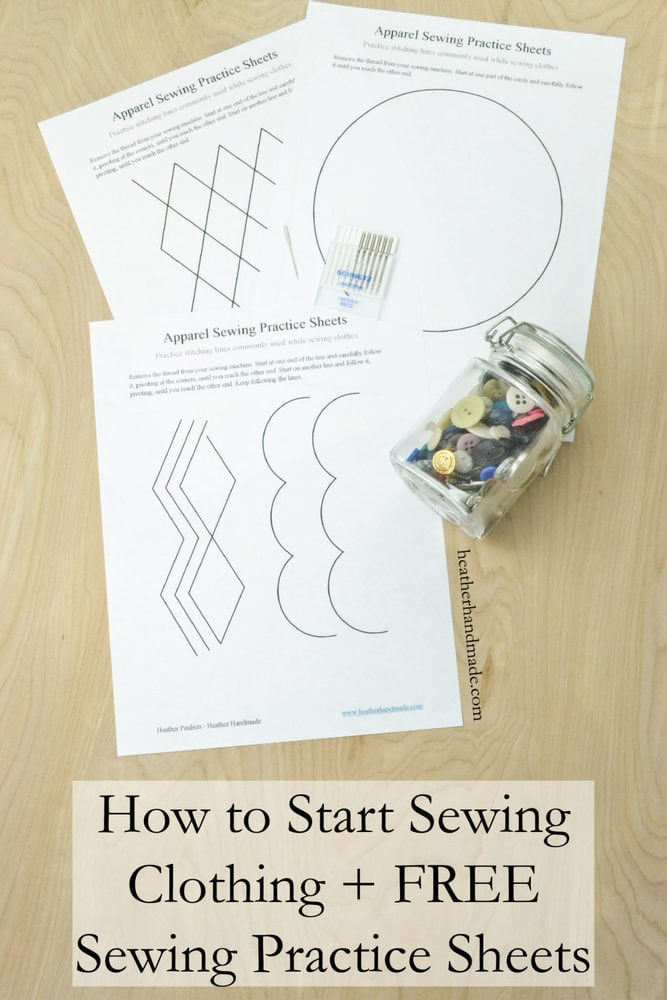 Learn How to Sew Clothes + FREE Sewing Practice Sheets