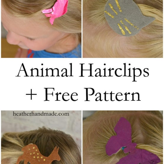 Animal Silhouette Hairclips + Free Pattern // heatherhandmade.com