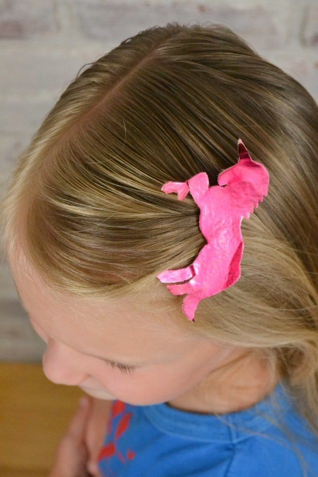 Animal Hairclips + Free Pattern // heatherhandmade.com
