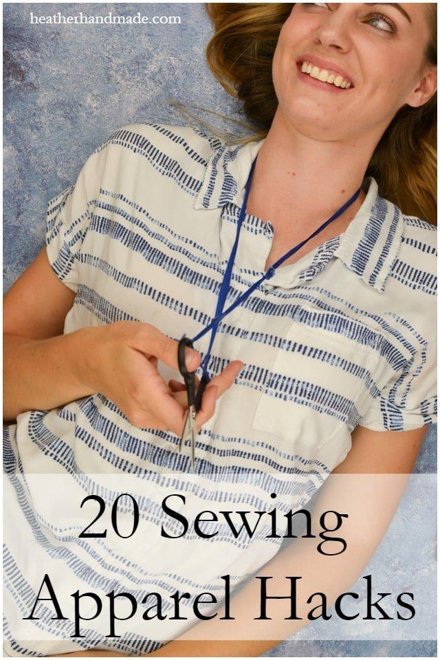 20 Apparel Sewing Hacks // heatherhandmade.com