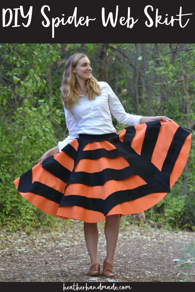 DIY Spider Web Skirt