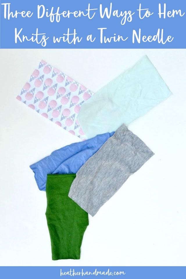 how to hem knit fabric