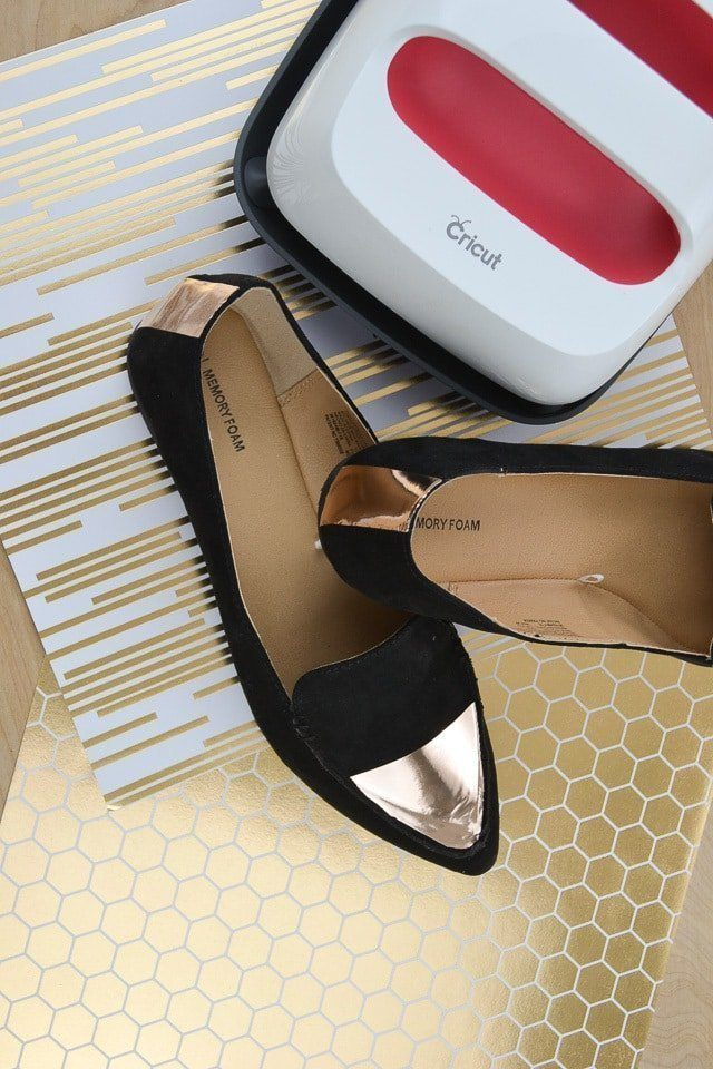 How to Add Iron-On Vinyl to Shoes with the Cricut EasyPress 2 // heatherhandmade.com