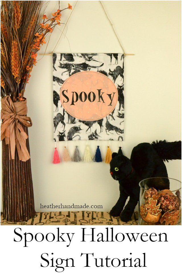 Spooky Halloween Sign Tutorial // heatherhandmade.com