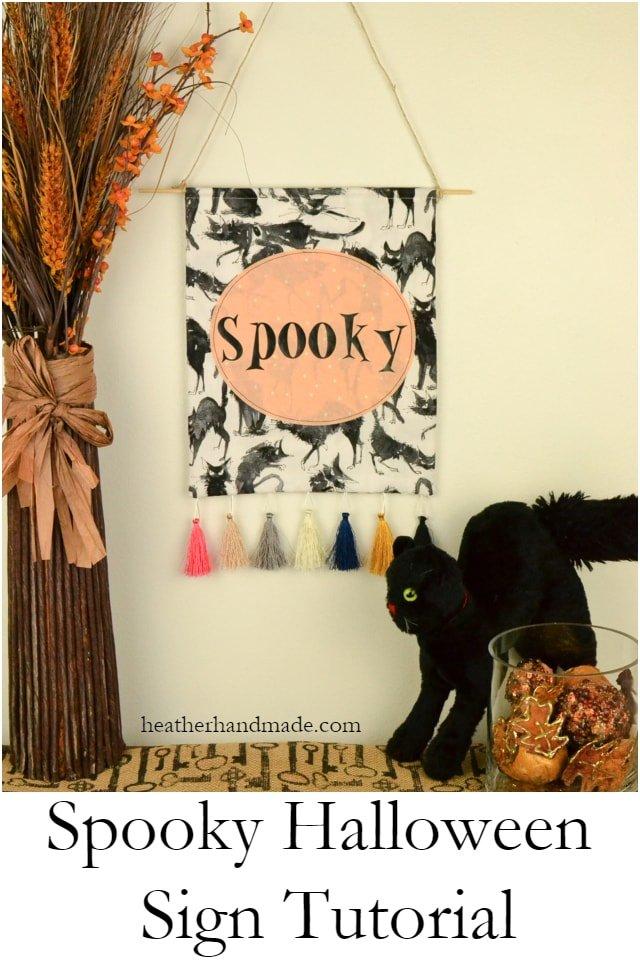 DIY Spooky Halloween Sign