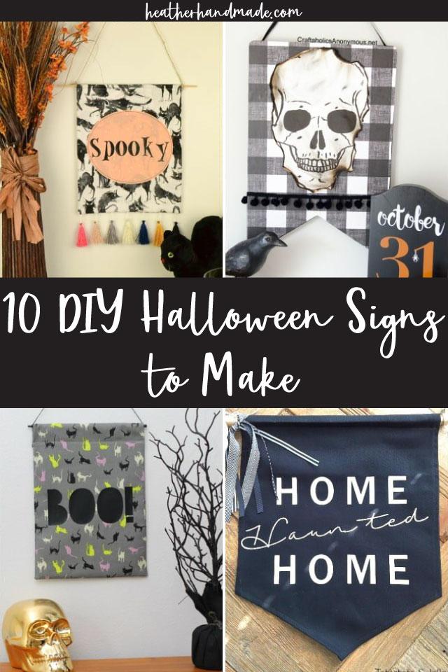 10 DIY Halloween Signs to Make