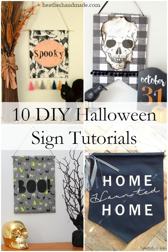 10 DIY Halloween Sign Tutorials // heatherhandmade.com