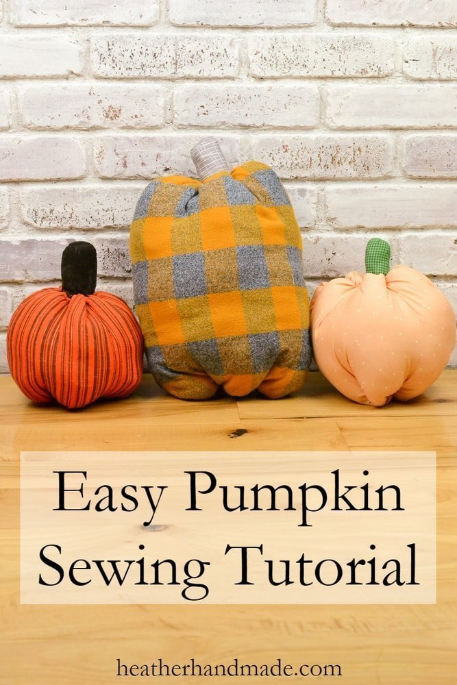 Easy Pumpkin Sewing Tutorial + Free Pattern // heatherhandmade.com
