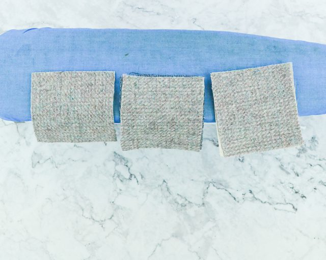 wool fabric and interfacing
