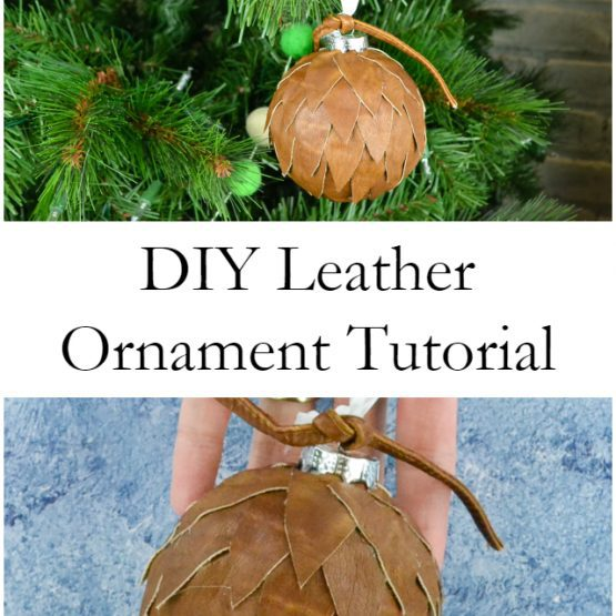 DIY Leather Ornament Tutorial // heatherhandmade.com