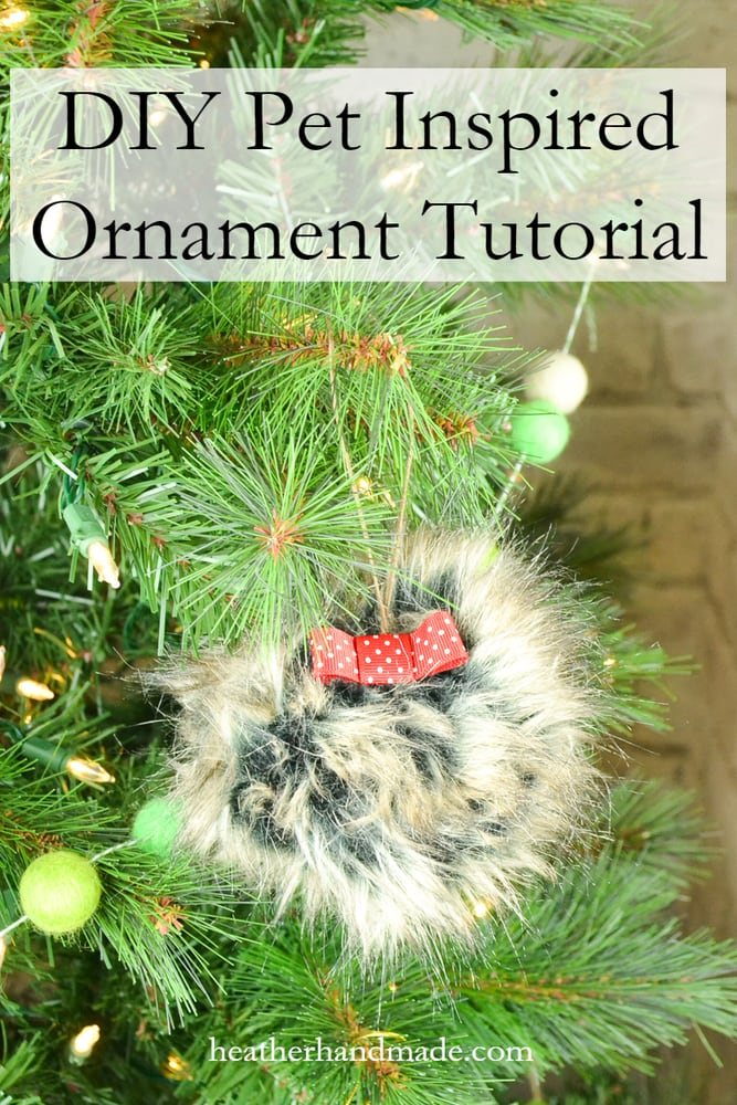 DIY Dog Ornament Tutorial // heatherhandmade.com