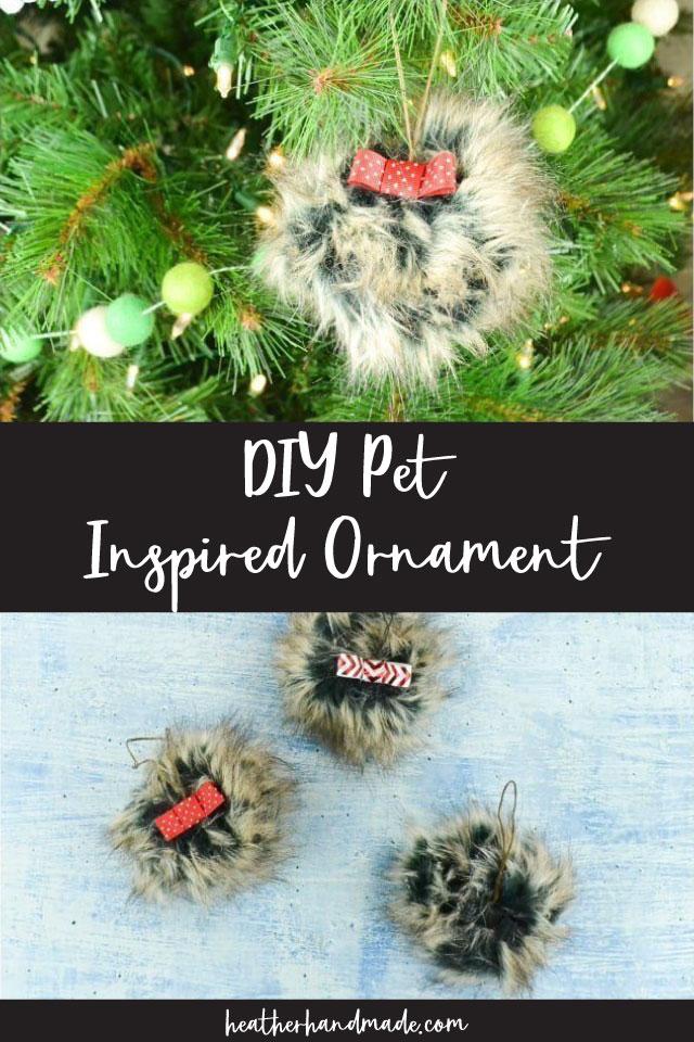 diy pet inspired ornament