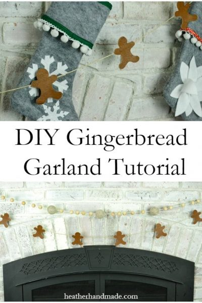 Gingerbread Garland Tutorial // heatherhandmade.com