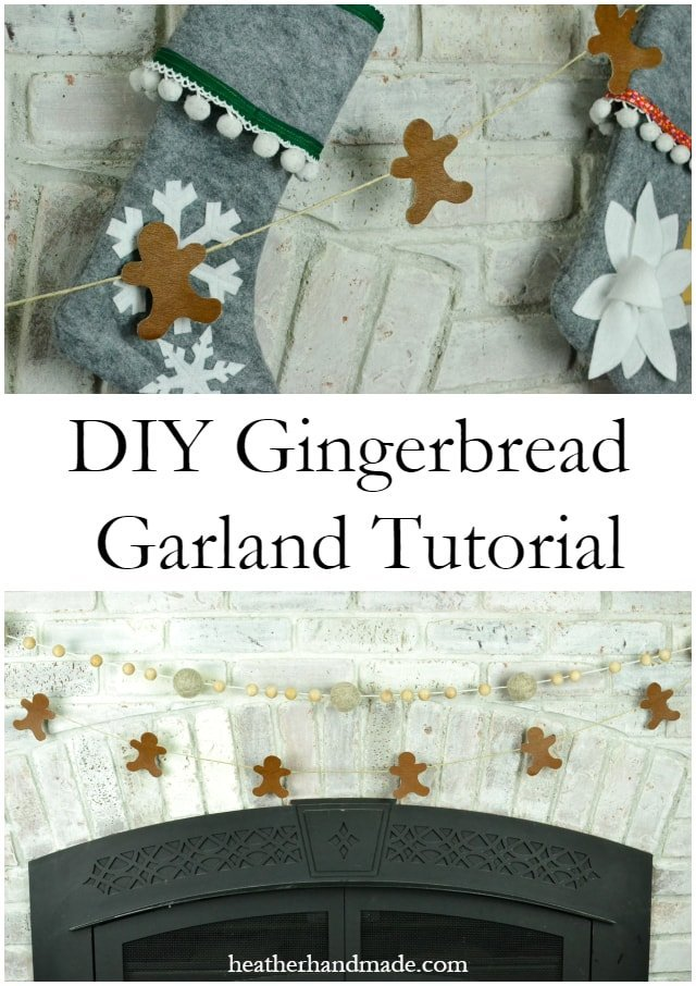 Gingerbread Garland Tutorial with Leather