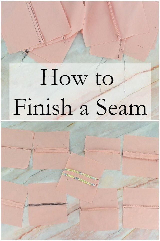 How to Finish a Seam // heatherhandmade.com