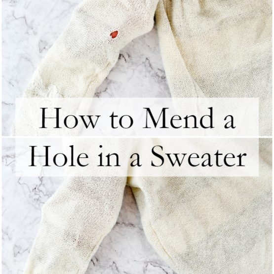 How to Fix a Hole in a Sweater // heatherhandmade.com