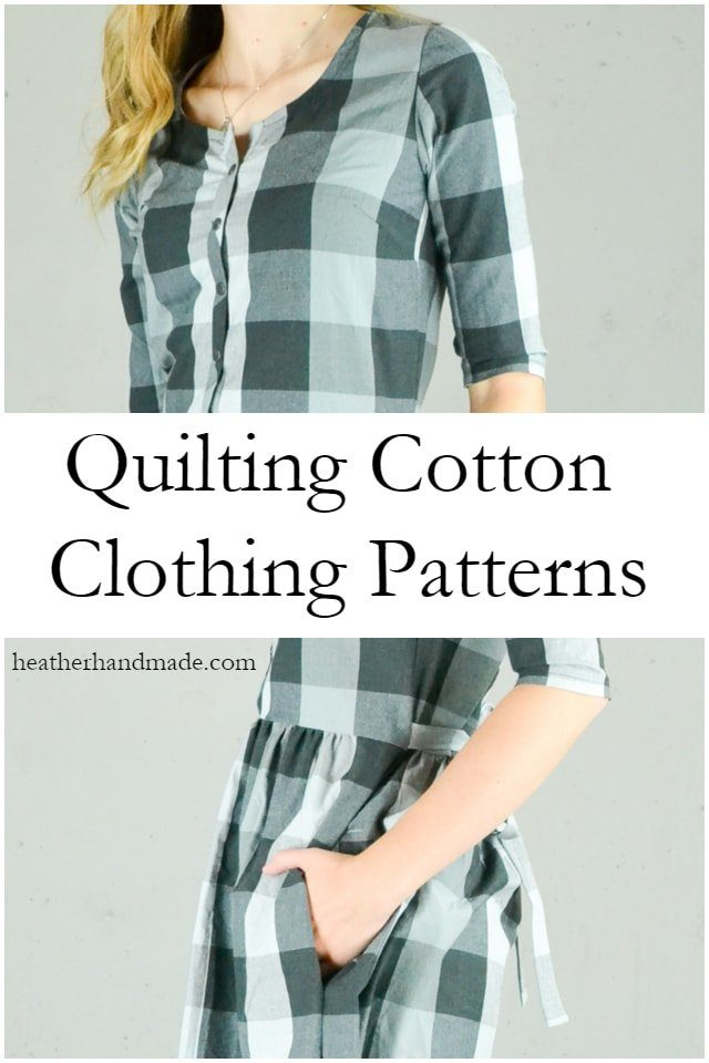 How to Use Quilting Cotton for Clothing // heatherhandmade.com