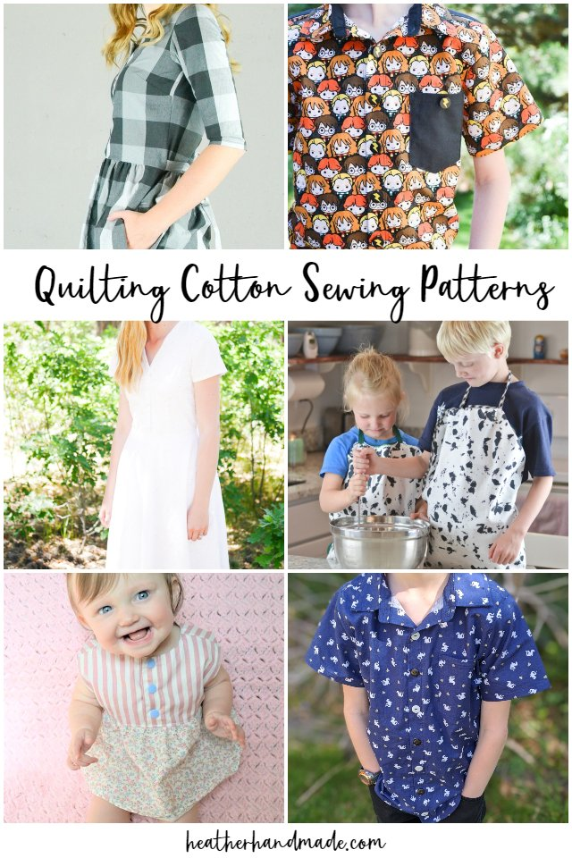 quilting cotton sewing patterns