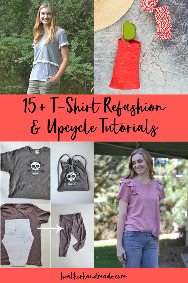 14 T-Shirt Refashion and Upcycle Tutorials