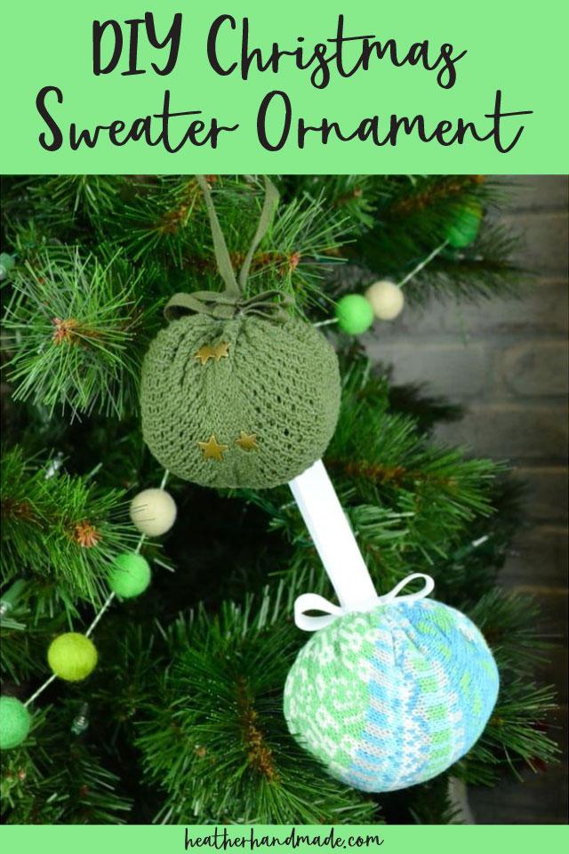 DIY Christmas Sweater Ornament