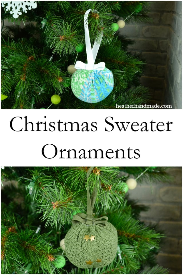 Christmas Sweater Ornaments // heatherhandmade.com