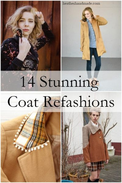 14 Stunning Coat Refashions // heatherhandmade.com