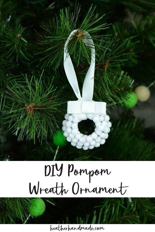 DIY Pompom Wreath Ornament Tutorial