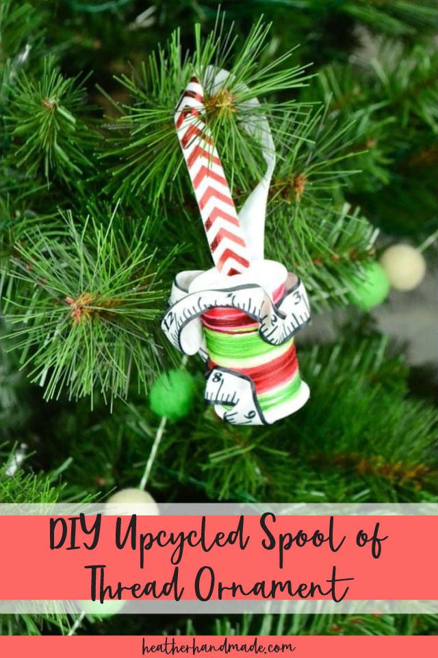 DIY Upcycled Spool of Thread Ornament