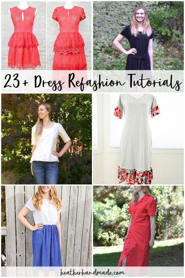 dress refashion tutorials