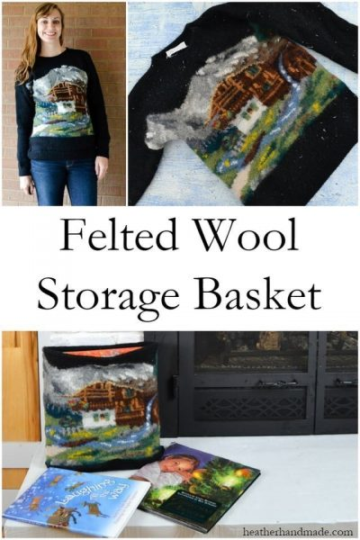 Felted Wool Storage Basket // heatherhandmade.com